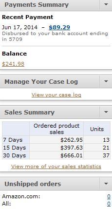 Robin's Amazon Earnings