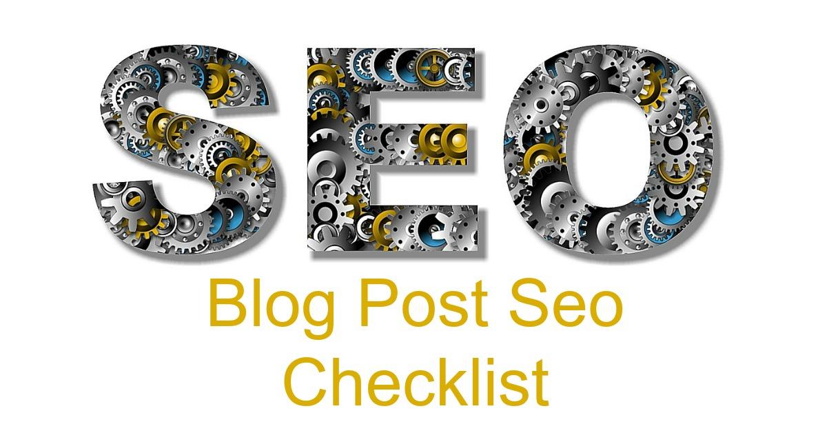 Blog Post Seo Checklist Made Simple! - Pajama Affiliates