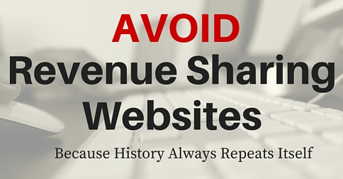 Revenue Sharing Websites - Why to Avoid Them