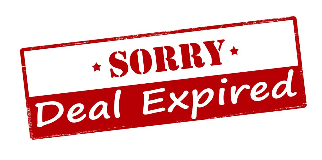Sorry deal expired