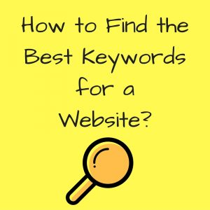 How do I find the right keywords for my website-