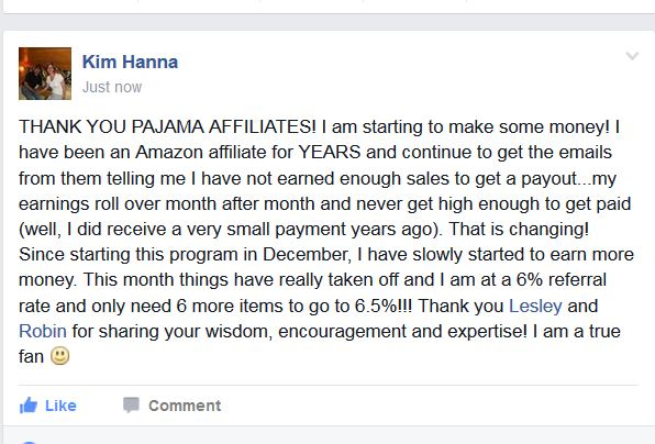 affiliate marketing testimonial