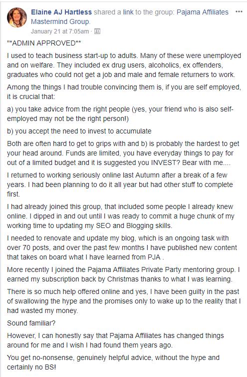 Testimony Elaine