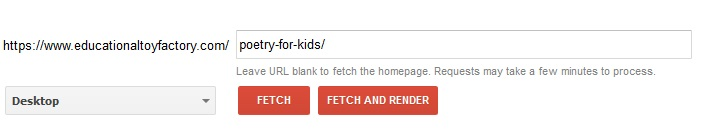 fetch and render
