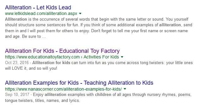 search results for my keyword