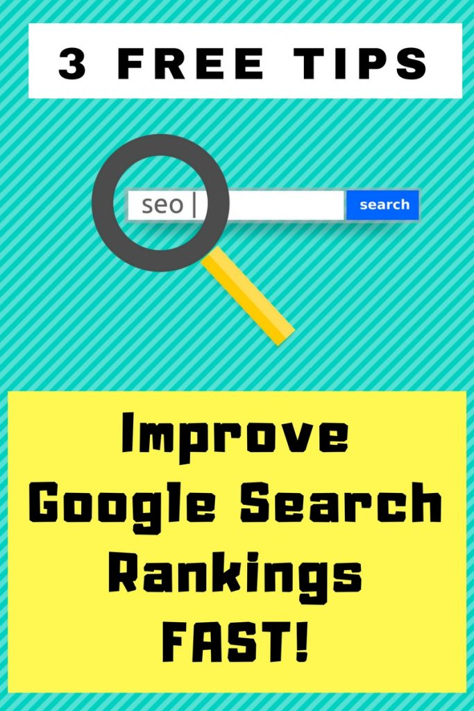 3 FREE SEO Tip To Improve Google Search Rankings Fast! If you want an increase in Google traffic you need to read this!