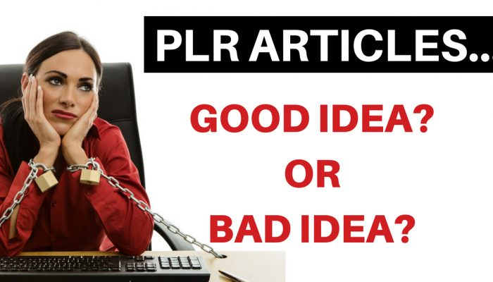 Are PLR Articles A Good Idea? Should Bloggers Really Be Using PLR?
